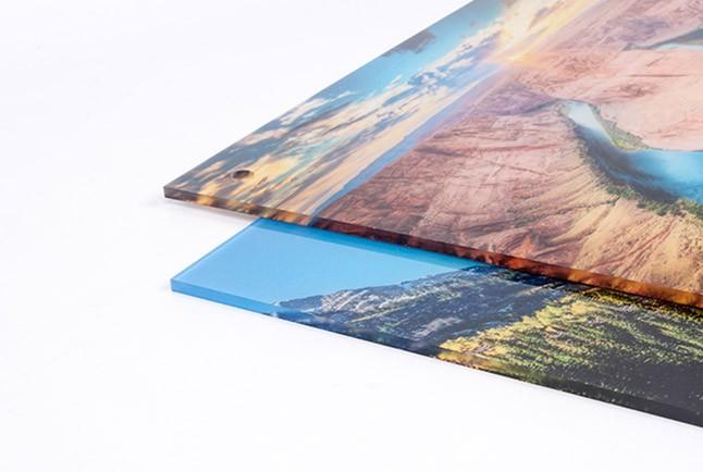 print on acrylic plexiglass
