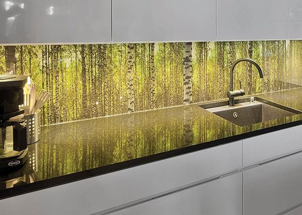 Forest Glass Backsplash