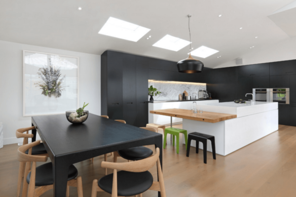 Matte Black Kitchen