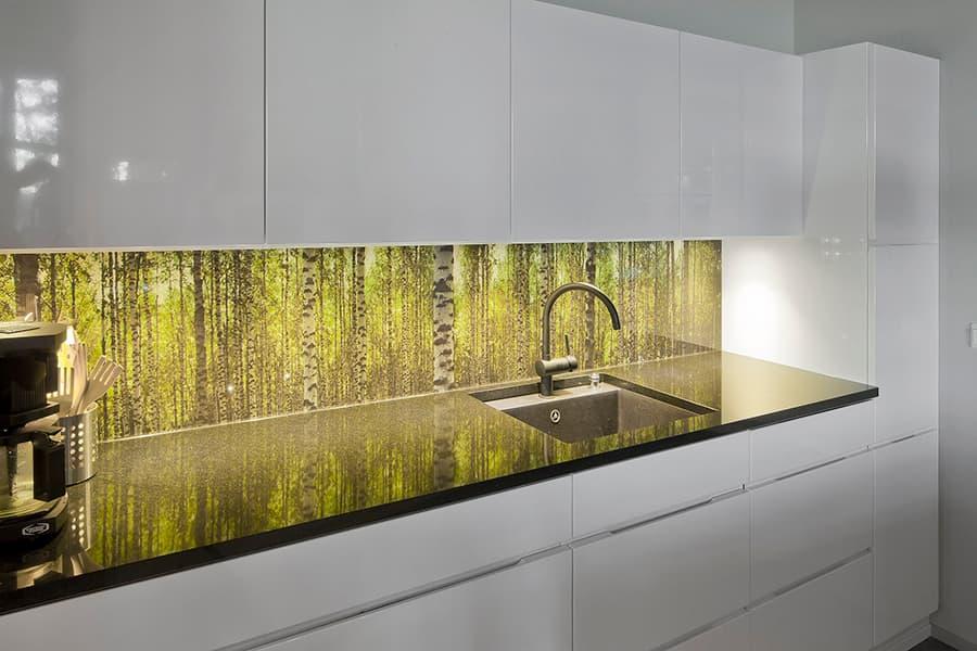 Forest Glass Backsplash