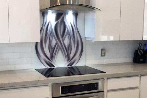 Coral Springs FL. project, after over stove custom backsplash