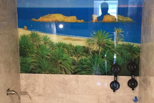 Maimi Beach Condo project, after custom Bathroom backsplash