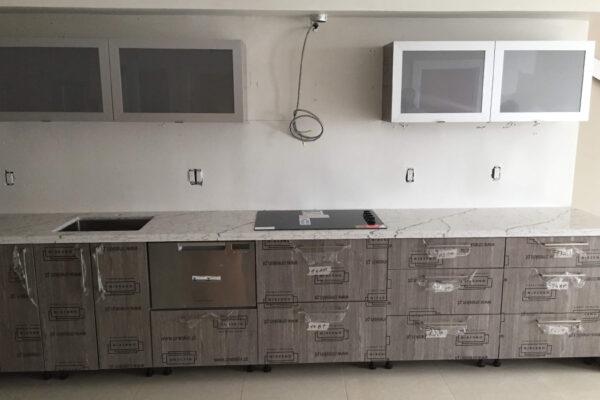 Miami Beach kitchen project, before custom backsplash