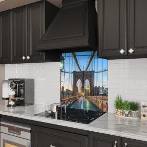 Brooklyn Bridge glass Backsplash