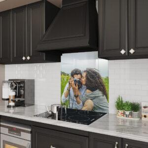 Stove Glass Backsplash Customized With Your Image