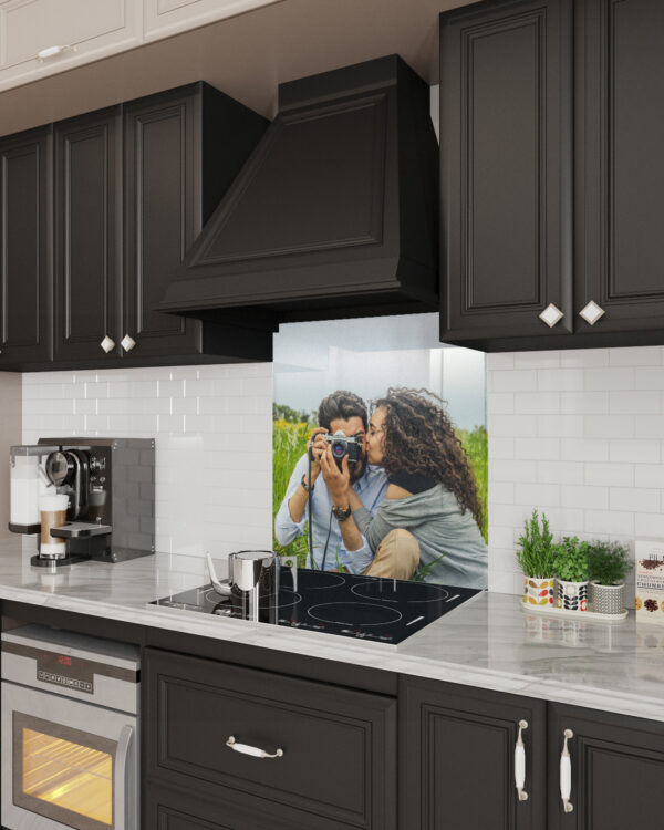 Stove Glass Backsplash Customized With Your Image