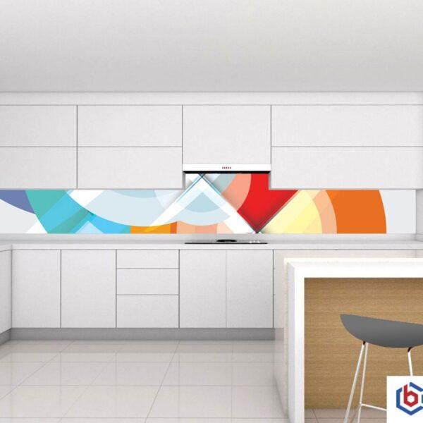 colorful patterns glass backsplash