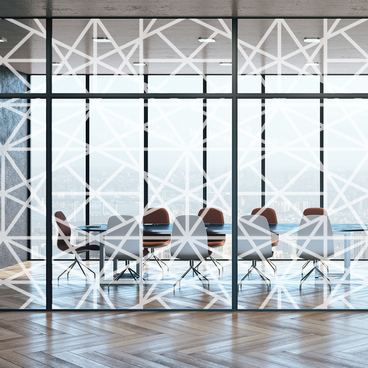 Glass printed Office Dividers